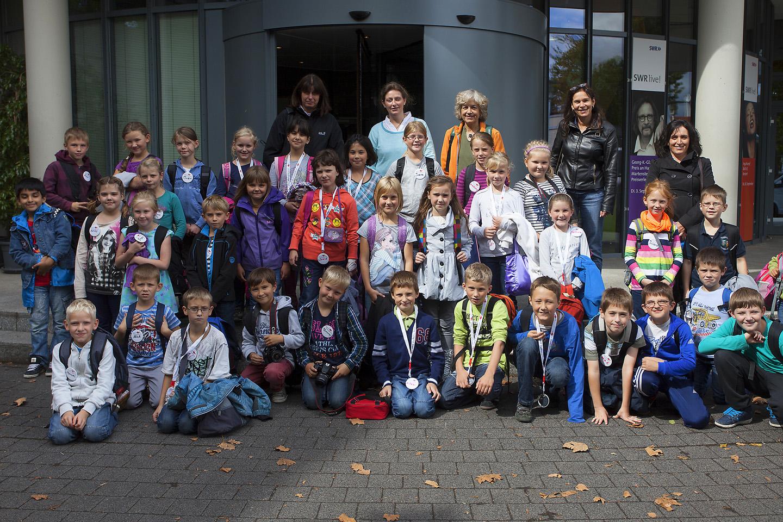 Schüler der Klassen 3a und 3c der Gutenberg-Schule Dierdorf in Mainz
