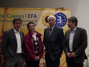 Stefan Rahmsdorf (PIK), Elisabeth Bröskamp, Dr. Roland Kohler, Sven Giegold (MdEP)