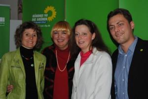 Eveline Lemke, Claudia Roth, Elisabeth Bröskamp, Daniel Köbler - LDV 4. / 5. 12. 2010 in Emmelshausen